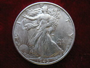 1945-S Walking Liberty Silver Half Dollar, BLAZING MINT LUSTER, HIGH GRADE!