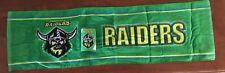 NRL  CANBERRA RAIDERS STUBBY HOLDER AND VELOUR BAR RUNNER BRAND NEW