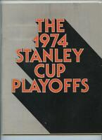 1974 Stanley Cup NHL Hockey Program Philadelphia Flyers New York Rangers GOAL #3
