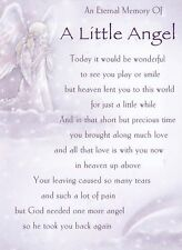 An Eternal Memory Of a Little Angel ~ Laminated grave card