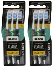 6 x REACH TOOTHBRUSH LIMITED EDITION SOFT Brand New