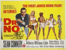 James Bond 007 Dr. No 1962 Movie Poster Canvas Poster Art Print Sean Connery