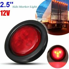 2.5inch Red Round LED Side Marker Light Turn Indicator Lamp Truck Trailer  W W