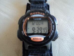 Vintage Reebok Digital Sport Watch Black Working Fine