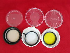 Lot of Three 52mm Filters: TIFFEN Yellow 2/Cross Screen & HOYA 81B MINT