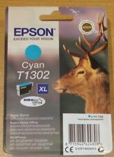 GENUINE EPSON T1302 XL Cyan (blue) cartridge vacuum sealed ORIGINAL OEM STAG ink