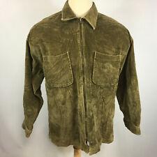 Vintage 90s Thick Corduroy Grunge Surf Skate Shirt Jacket Coat Full Zip Pocket L