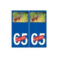 Lièvre numéro choix autocollant plaque sticker logo 1