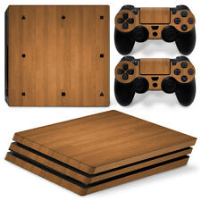 Wood Effect Skin For PLAYSTATION 4 Pro PS4 Pro set Sticker Wrap Accessory Decal