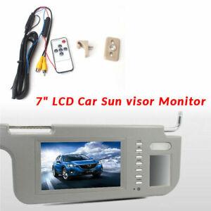 "7""Car Sunvisor Rear Right View Mirror Screen LCD Monitor DVD/VCD/GPS/TV PAL/NTSC"