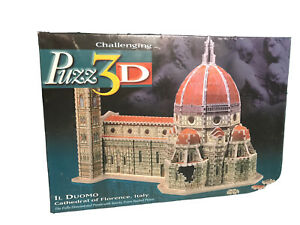 Puzzle Puzz 3D IL Duomo Cathedral Of Florence Italy Challenging 802 Pcs 1997 New