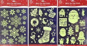 Christmas Glow In The Dark Wall Stickers Desks Window Decoration Removable Kids