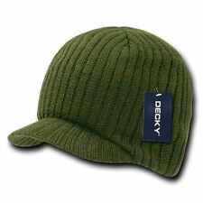 Army Green Campus Beanie Cap Knit Skully Winter Hat Radar Style Jeep Ski Brimmed