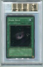 Yu-Gi-Oh 1st Edition Legend of Blue Eyes Dark Hole LOB-052 BGS 10 PRISTINE