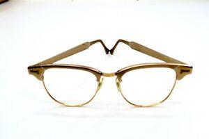 Vintage Cat Eye Gold Framed Eyeglasses marked SR O 1/10-12K GF USA 6 1/2
