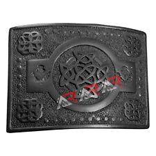 Scottish Highland kilt Belt Buckle Celtic Knot Work High Quality Black Finish