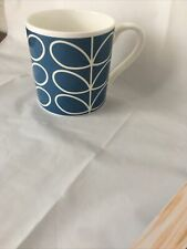 Orla Kiely Fine Bine China Mug Stem Design Blue New Made In UK