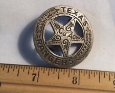 Vintage Texas Rangers Badge Made From Mexican Silver Peso
