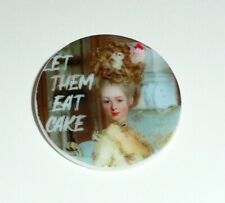 """Marie Antoinette """"Let Them Eat Cake"""" MOP -  Mother of Pearl Shank Button 1+3/8"""""""