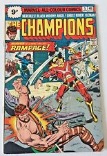 THE CHAMPIONS. NO. 5.  BRONZE AGE 1976. VG+.COND.  BLACK WIDOW. GHOST RIDER