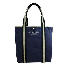 Marc Jacobs Canvas Shopper North/South Tote in Midnight Blue