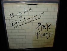 "PINK FLOYD run like hell / don't leave me now ( rock ) 7""/45 picture sleeve"
