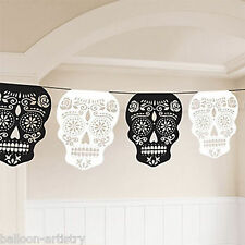 3.65m Halloween Muertos Day Of The Dead Festival Party Skull Garland Decoration