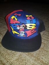 Disney Mickey Unlimited Mickey Mouse Rare Embroidered Vintage Snapback Hat
