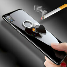 Phone Ring Buckle Holder Mount Rechargeable Electric Windproof Cigarette Lighter