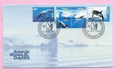 AUSTRALIA (AAT) FDC 1995  ANTARCTIC WHALES & DOLPHINS Stamps - Shs MacQuarie Is