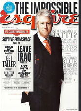 Bill Clinton Esquire Aug 2010 Ana de la Reguera David Blaine Deborah Ann Woll