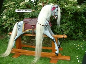 HAIR SET ON HIDE, Mane,Tail & Forelock for your Rocking Horse Ready to fit