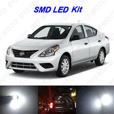 6 x White LED Interior Bulbs + License Plate Lights for 2014-2016 Nissan Versa