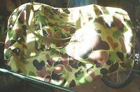 1 X ORIGINAL S/H  ARMY CAMOUFLAGE CARRY BAG 65 X 35 CM ZIP NEEDS REPAIRING 1 BAG