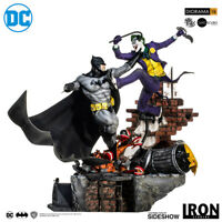 DC Comics Batman Vs The Joker by Ivan Reis Statue Diorama Iron Studios Sideshow