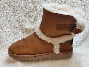 UGG Australia Ladies winter Boots Leather Brown UK 5.5 EUR 38