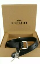 COACH SMALL PET DOG LEATHER COLLAR with GIFT BOX BLACK SILVER ($70)