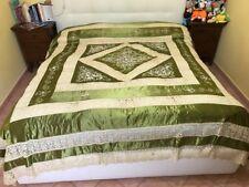 antichissima coperta di seta e cantu' di fine 800
