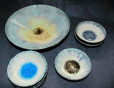 Bauhaus Keramik Schalen Set Kristallglasur