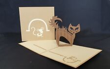 "3D Pop Up ""CAT WALK"" Card.(Birthday, Get well, Thank you, Congrats..any Occasion"