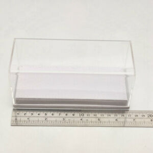 Acrylic Case Display Box Models Thicken Transparent  White Flannel Bottom 1/43