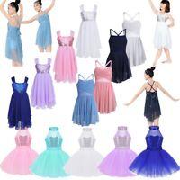 Girls Ballet Dance Dress Kids Gymnastics Leotard Tutu Skirt Dancewear Costume