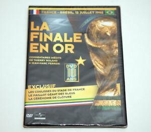 DVD FOOTBALL FRANCE BRESIL 1998 LA FINALE EN OR FIFA WORLD CUP BRAZIL FRANCE