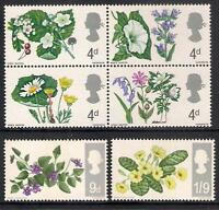 GB 1967 sg717-22 British Wild Flowers ordinary set MNH