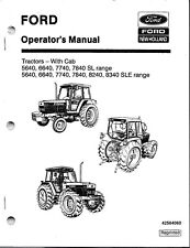 FORD-NH 5640 6640 7740 7840 8240 8340  Tractor Operator's Manuals-WITH CAB*SET*