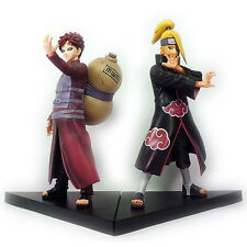 Set 2p Japanese Anime Naruto Shippuden Gaara Deidara Figure Figurine 15cm No Box