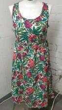 NWT Tu Sleeveless Tropical Patterned Summer Beach Flare Dress 12 UK Clothes
