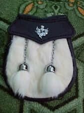Kids Half Dress Sporran/Baby Half Dress kilt Sporran White Thistle Crest Badges