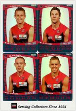 2011 AFL Teamcoach Trading Cards Silver Parallel Team Set Melbourne (11)