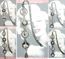 MARILYN MONROE Bookmark With Pendant Book Mark Actress Beauty Spot Mark Red Lips